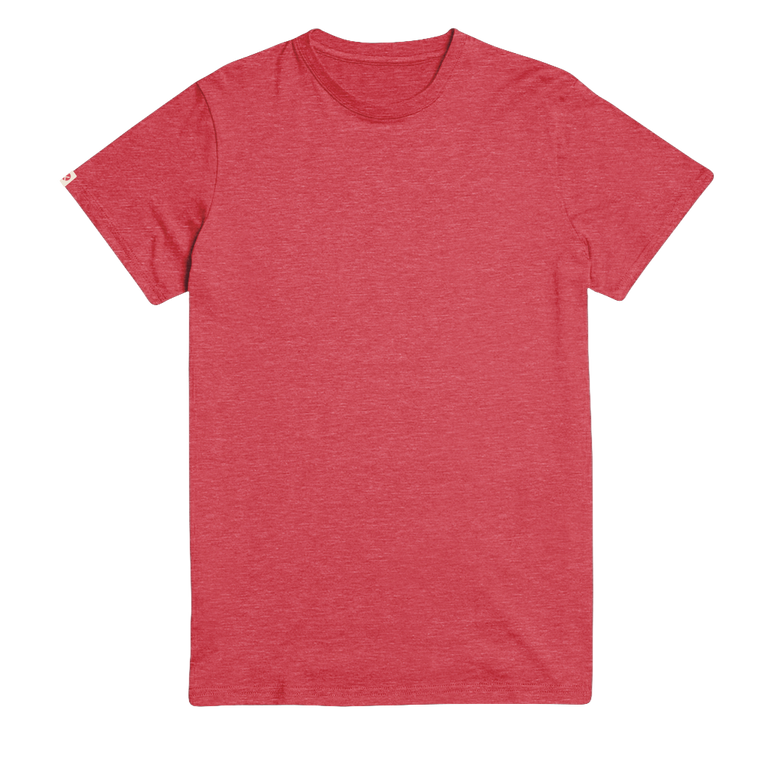 Hike The Pines Recycled Tee - Melange Red