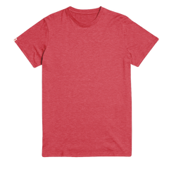 Hike The Pines Recycled Tee - Melange Red - K-nit
