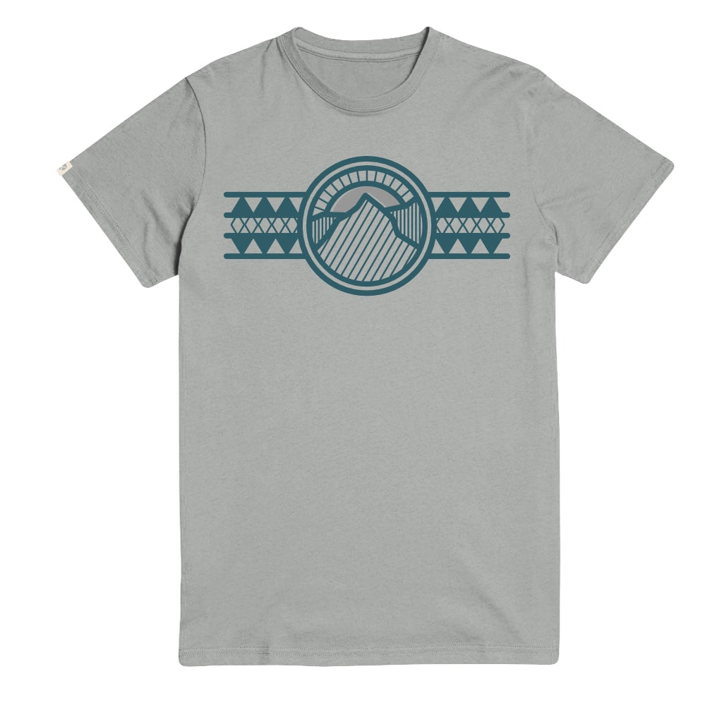 Retro Lines Unisex Grey T-Shirt