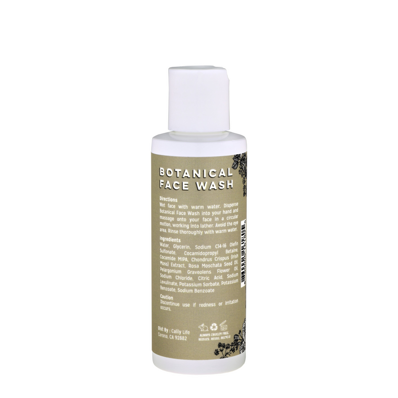 Botanical Face Wash with Rose Hip Seed Cleanser and Rose Geranium Water