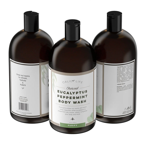 Charcoal + Eucalyptus + Peppermint Body Wash