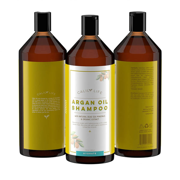 Argan Oil Shampoo + Conditioner w/ Dead Sea Minerals