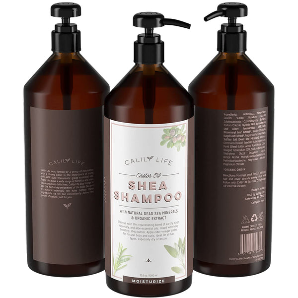 Shea Butter Shampoo + Conditioner w/ Dead Sea Minerals