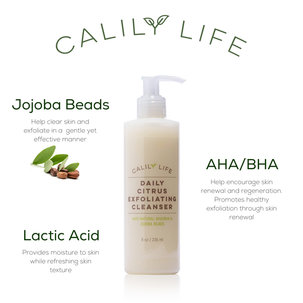 Daily Citrus Exfoliating Cleanser w/Jojoba Beads and Natural AHA/BHA