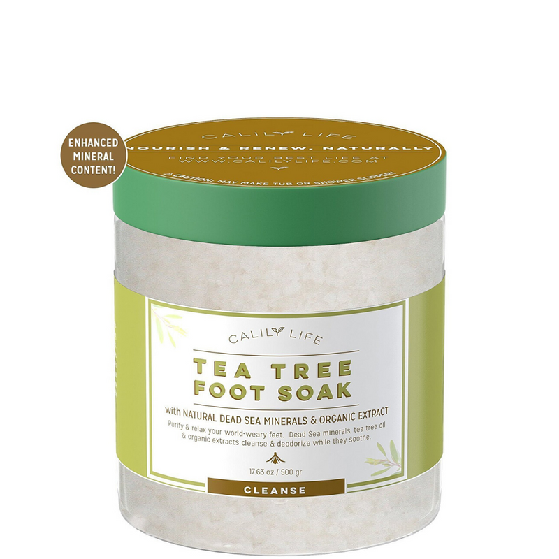 Tea Tree Salt Foot Soak w/ Dead Sea Minerals
