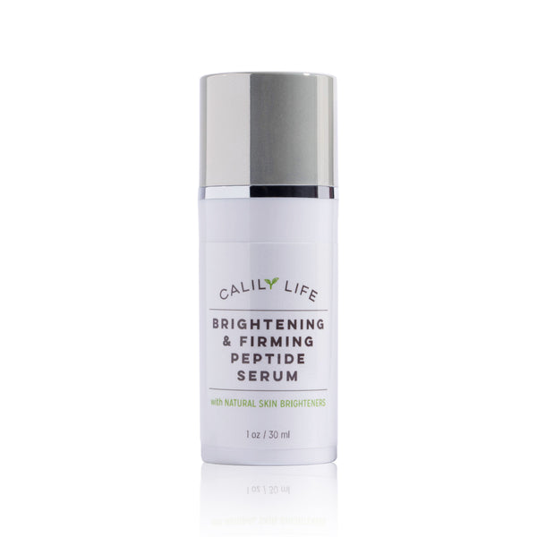 Brightening and Firming Peptide Serum w/ CoQ10, Red Marine Algae, Vitamin C + E, and more