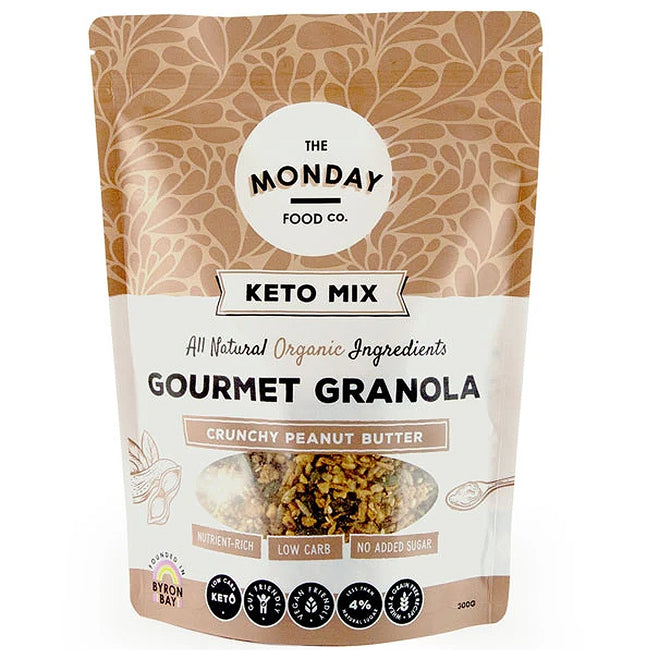 Monday Food Co | Keto Mix Granola | Crunchy Peanut Butter | 300g