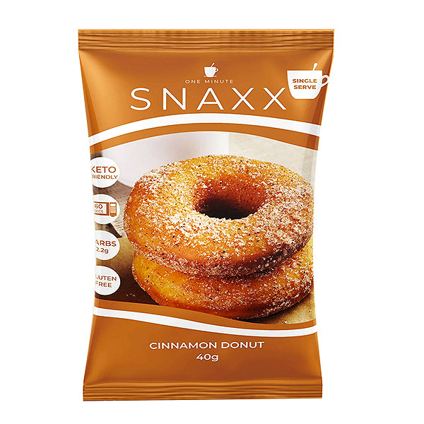Snaxx One Minute Donut 2 pack | Cinnamon | 40g x2
