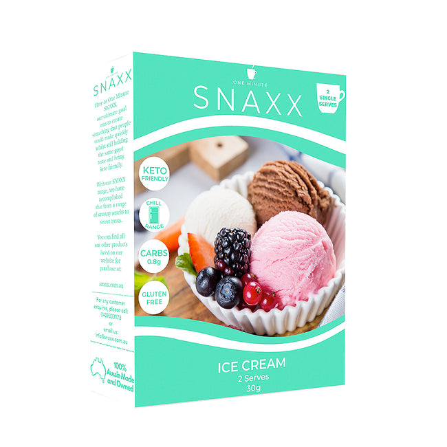 Snaxx One Minute Ice Cream | 2 x 30g Serves