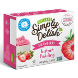 Simply Delish Instant Pudding | Strawberry | 48g