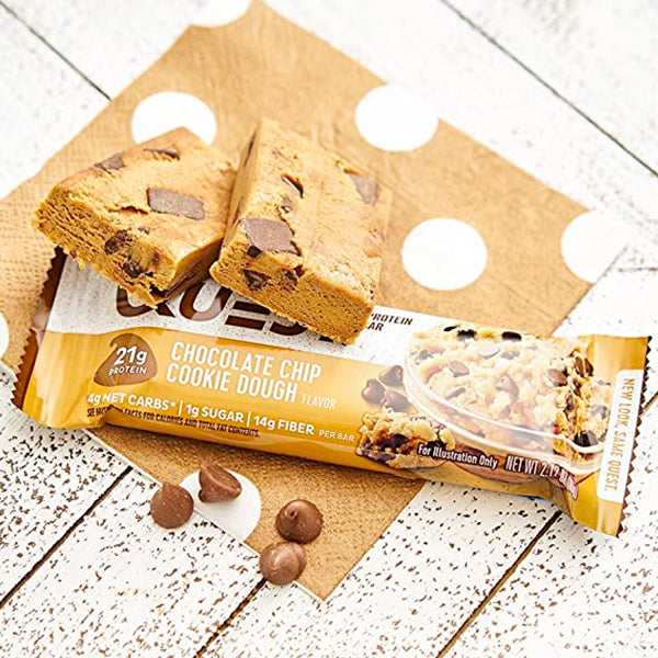 Quest Protein Bar | Chocolate Chip Cookie Dough | 60g