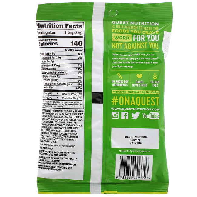 Quest Tortilla Protein Chips | Chili Lime | 32g