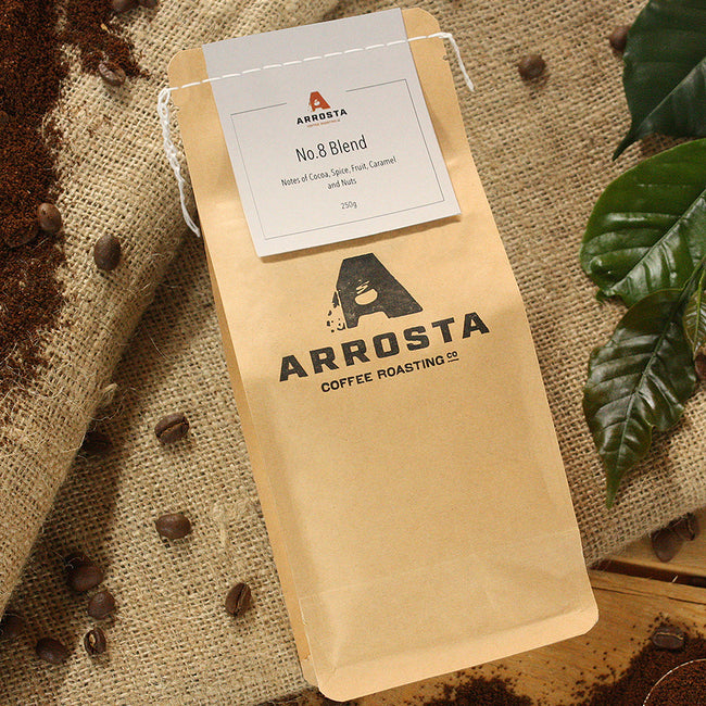 Arrosta Coffee | No. 8 Blend | Plunger/Filter Ready | 250g | Ships Every Wednesday