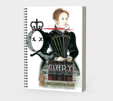 Load image into Gallery viewer, Mary Queen of Scots Spiral Notebook