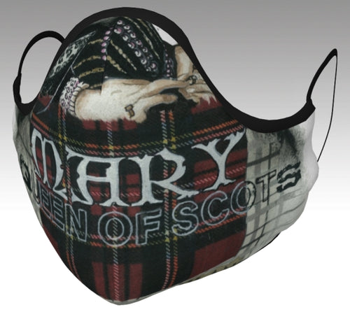 Mary Queen of Scots Text Face Mask