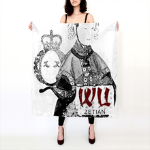 Load image into Gallery viewer, Empress Wu Linen Square Scarf