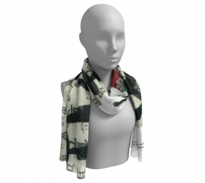 Empress Wu Long Silk  Scarf