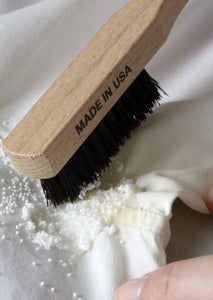 How To Use the Laundress Stain Brush