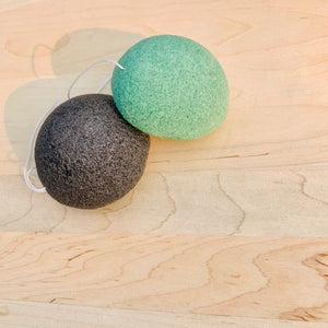 Vegan Konjac Facial Sponges (Green Tea or Charcoal Infused)