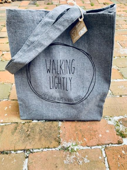 Walking Lightly Tote made from Recycled Materials