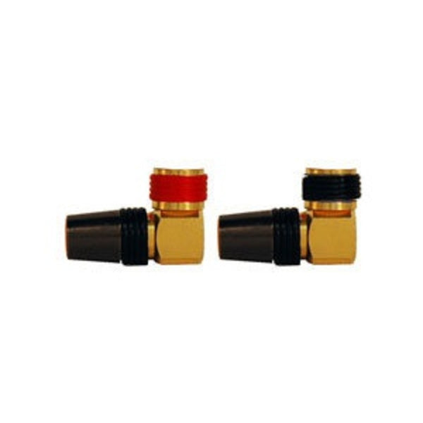 ICM RGSPURA Right Angle Gold Plated Speaker Connectors