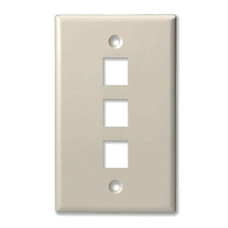 ProConnect PC203 Single Gang 3 Port Keystone Wall Plate (FINAL SALE)