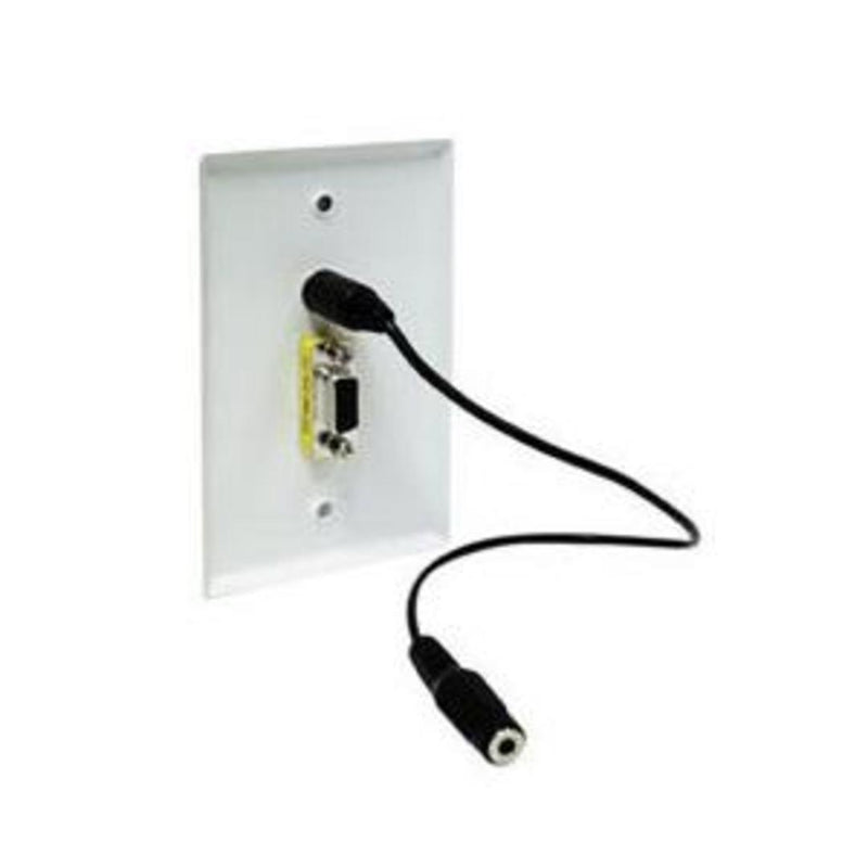 LINK VGAAUD-WP VGA Passthrough Wall Plate with Audio