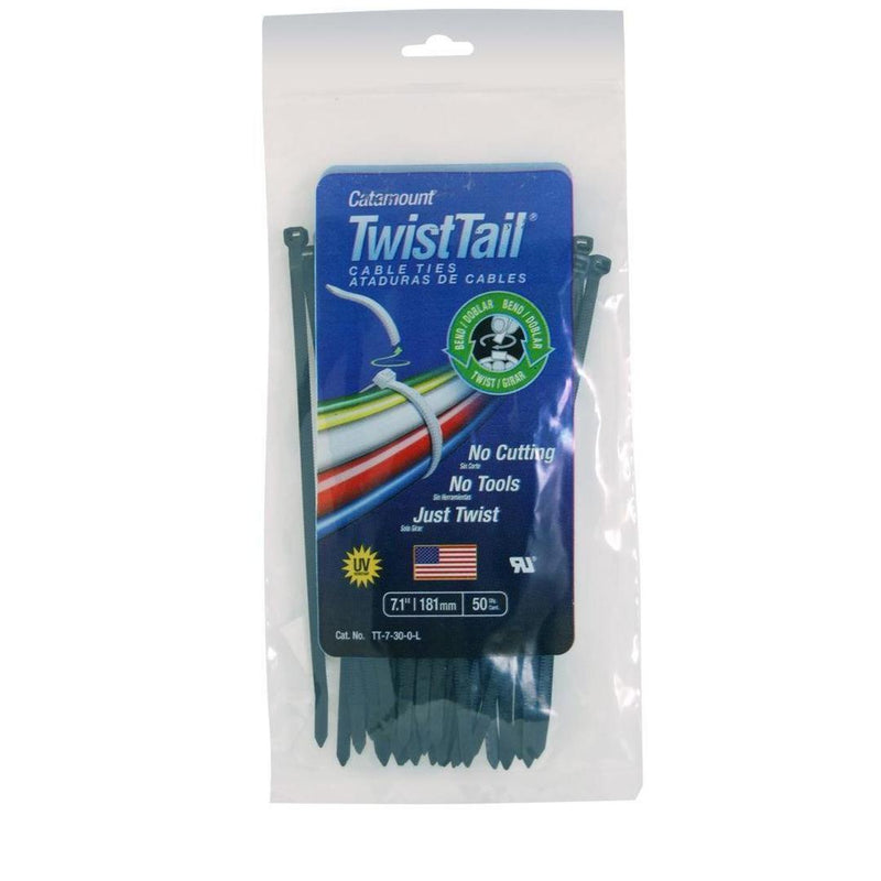 "Catamount TT-7-50-0-C 7"" 30LB Twisttail Cable Tie (50 Pack) (FINAL SALE)"