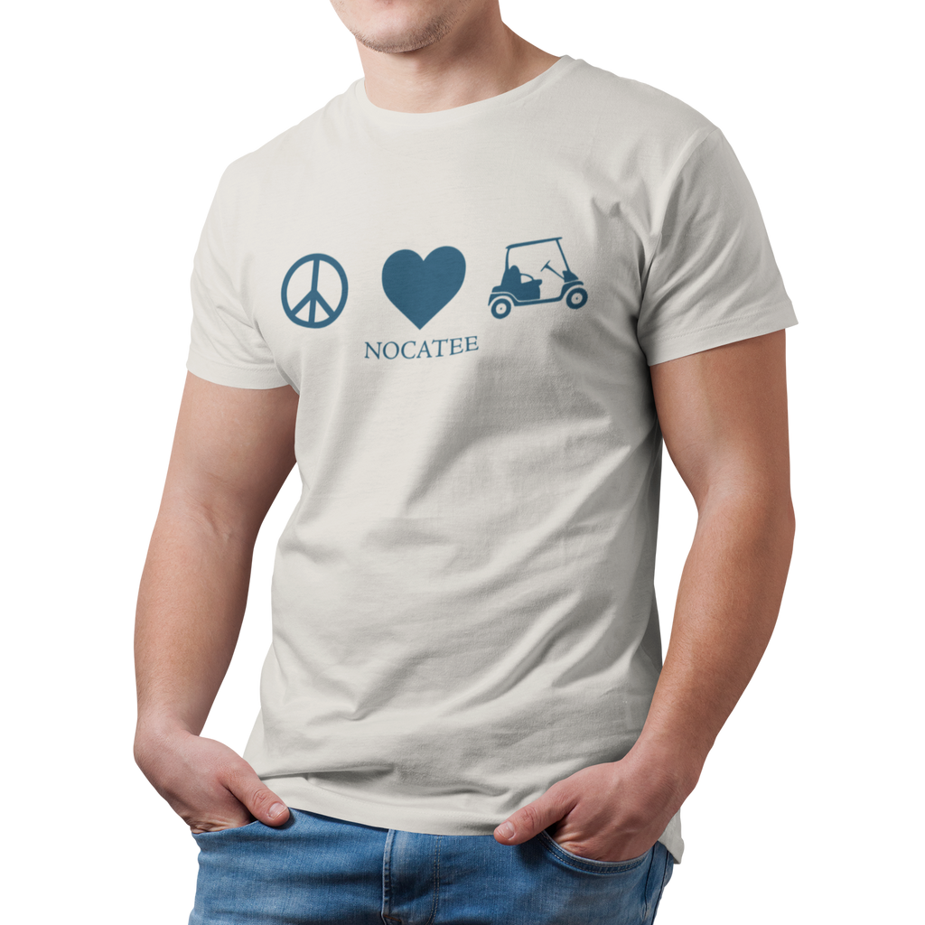 Men's Peace Love & Golf Carts Soft Tee