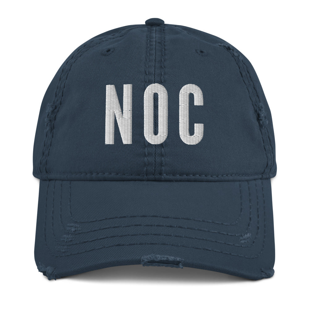 NOC Distressed Hat