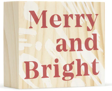 "Load image into Gallery viewer, ""Merry and Bright"" Block Art"