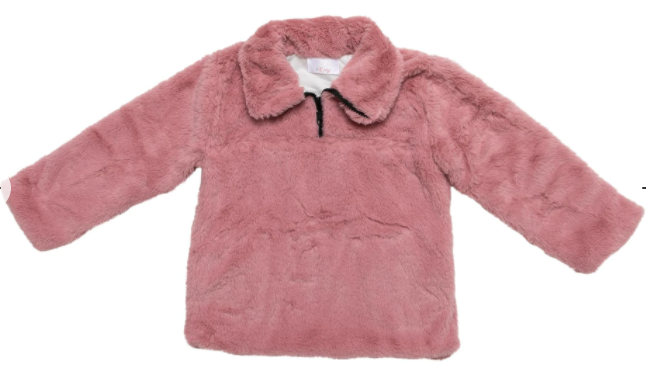 Mila & Rose Vintage Pink Fuzzy Pullover