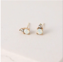 Load image into Gallery viewer, Dolce White Opal Studs