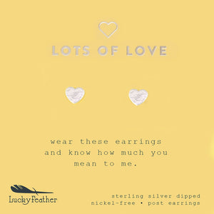 Lucky Feather Lots Of Love Earrings