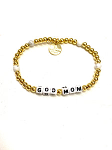 Little Words Project Bracelets Gold