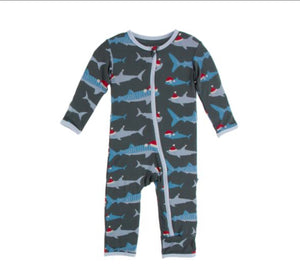 Santa Sharks Holiday Jammies