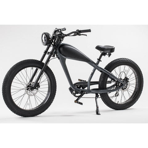 Image of REVI Bikes Cheetah Cafe Racer 48V 13/17.5Ah 750W Fat Tire Electric Bike
