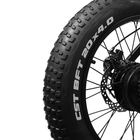 "Image of Nakto Discovery 20"" Fat Tire Electric Bike - 300W 48V"