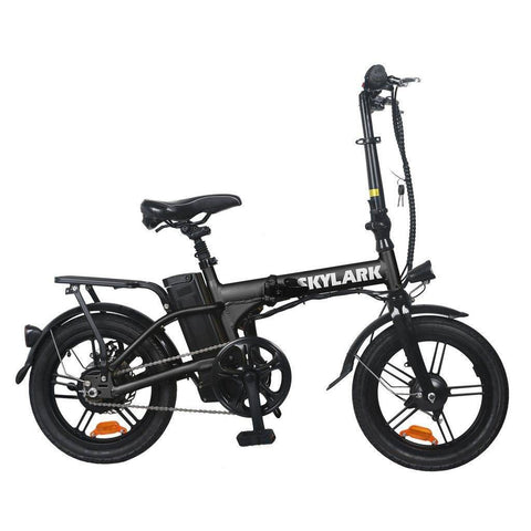 Image of NAKTO Folding Electric Bicycle 16'' Black Skylark E-Bike NAKTO Black