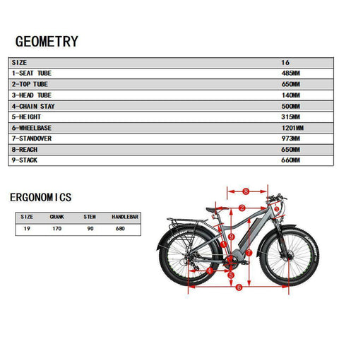 Image of Eunorau FAT-HD 48V/15.6Ah 1000W Fat Tire Electric Mountain Bike