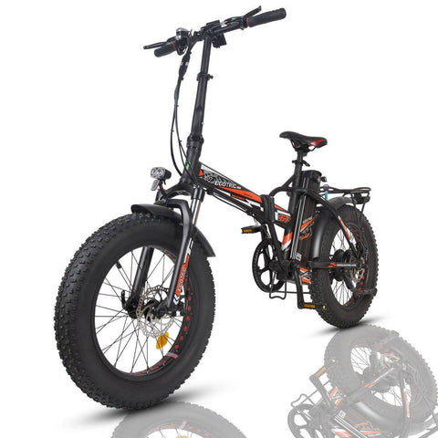 Image of Ecotric 48V/15Ah 500W Portable and Folding Electric Bike with color LCD display