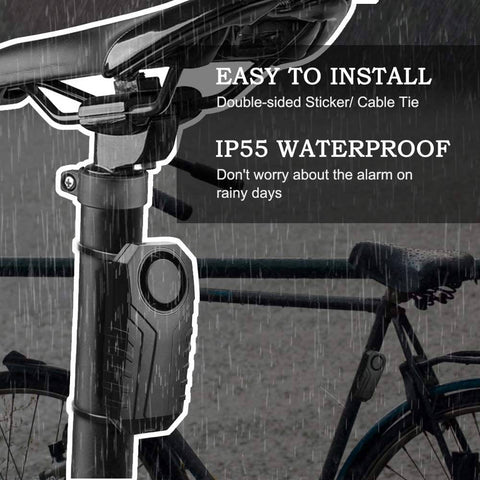 Image of 113dB Waterproof Bike Alarm with Remote - Electricbikepros
