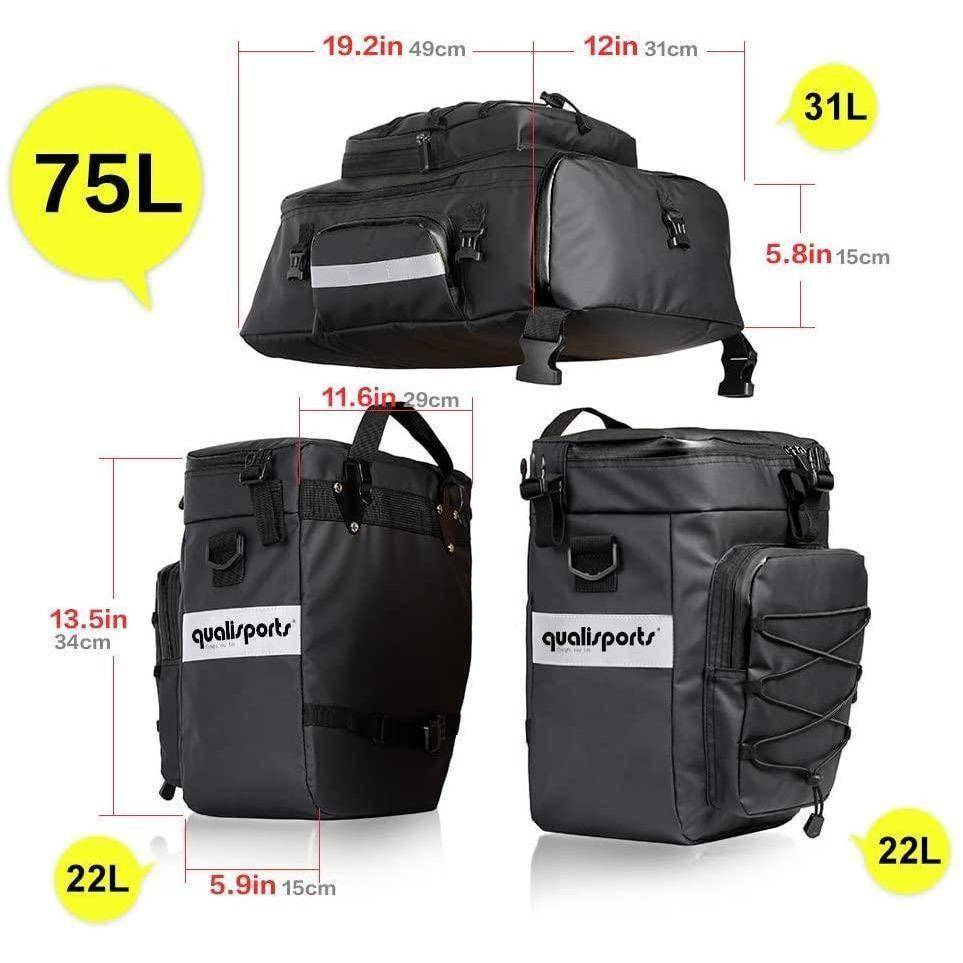 Qualisports Pannier Bag Set 3 in 1
