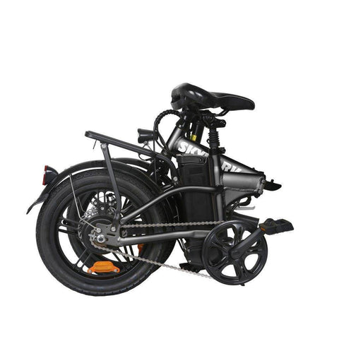 Image of NAKTO Folding Electric Bicycle 16'' Black Skylark E-Bike NAKTO