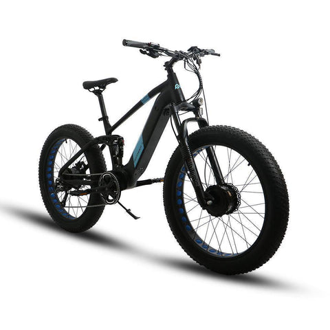 Eunorau Defender S All Wheel Drive Dual Battery Dual Suspension 48V/14Ah 1000W Fat Tire Electric Mountain Bike