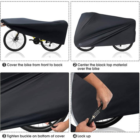 Image of Outdoor Bike Cover with Lock Hole