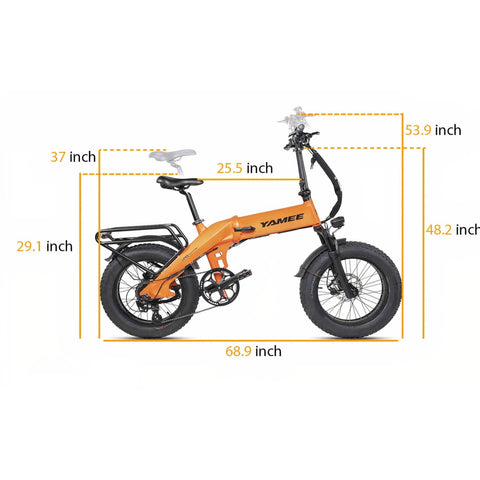Image of Yamee XL 750W 48V/14.5Ah 750W Fat Tire Electric Bike