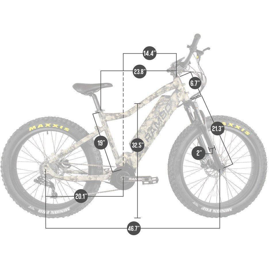 Rambo Nomad 48V/11.6Ah 750W Fat Tire Electric Hunting Bike