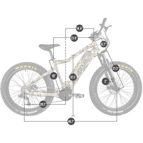 Image of Rambo Nomad 48V/11.6Ah 750W Fat Tire Electric Hunting Bike