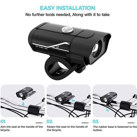 600 Lumen Rechargeable Bike Light Set - Electricbikepros